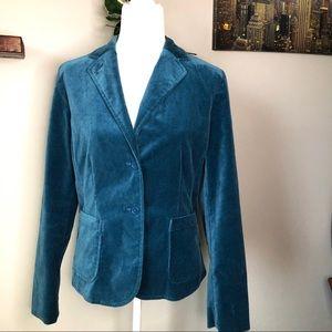 Gap teal velvet velour blazer, like new 12